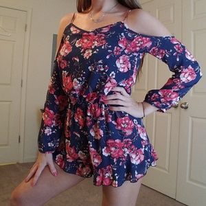 Altar'd State Fade Into You Floral Romper